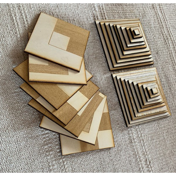 EduDoMo Mozaiki - zestaw sensoryczny - karty na 3 figury