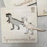 EduDoMo Tabliczki Dinozaury 6 szt.