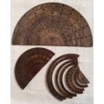 EduDoMo Kreatywne tęcze - Zestaw 3 brązowych tęcz z otworami