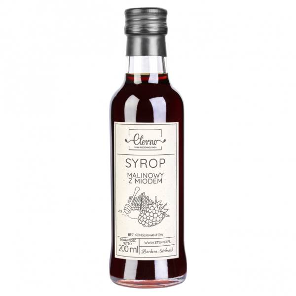 Eterno Raspberry syrup with honey 200ml