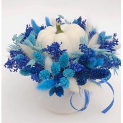 Flower Tavern Kompozycja z dynią w ceramicznej doniczce