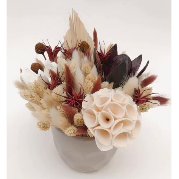 Flower Tavern Dry flower composition in ceramic flowerpot