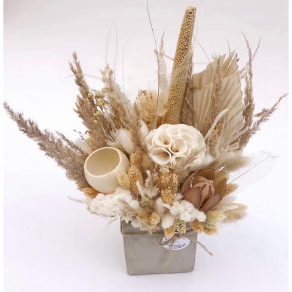 Flower Tavern Box 2 cream-beige (10x10 cm)