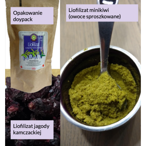 Folwark Wójtostwo Kamchatka berry lyophilisate - whole fruit 40g