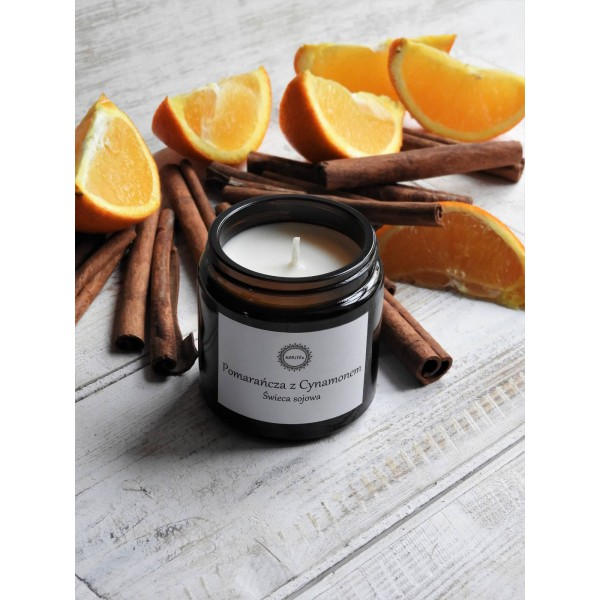 KARiTEe Scented soy candle ORANGE WITH CINNAMON