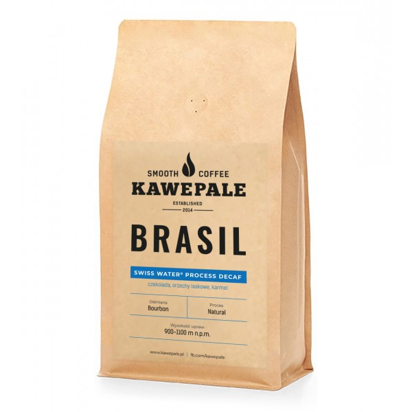Kawe Pale Kawa Ziarnista BRASIL DECAFE SWISS WATER PROCESS 250g