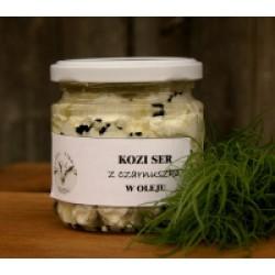 Kozia Farma Złotna Kozi ser w oleju z czarnuszką
