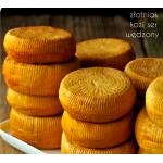Kozia Farma Złotna ZŁOTNIAK ser wędzony w chłodnym dymie olchowym