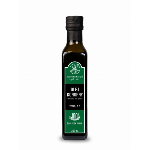 Kujawskie Konopie Olej konopny zimnotłoczony 250 ml