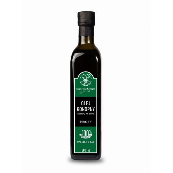 Kujawskie Konopie Cold-pressed hemp oil 500 ml