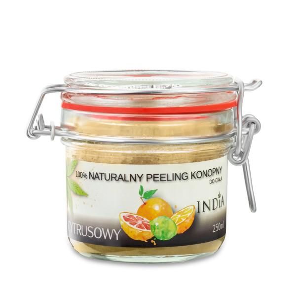 Kujawskie Konopie Naturalny cytrusowy peeling konopny 250 ml