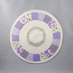 Lawendowy Ląd Napkin / plate coaster (patchwork with embroidery)