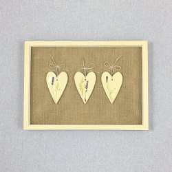 Lawendowy Ląd Picture: 3 ceramic hearts, small