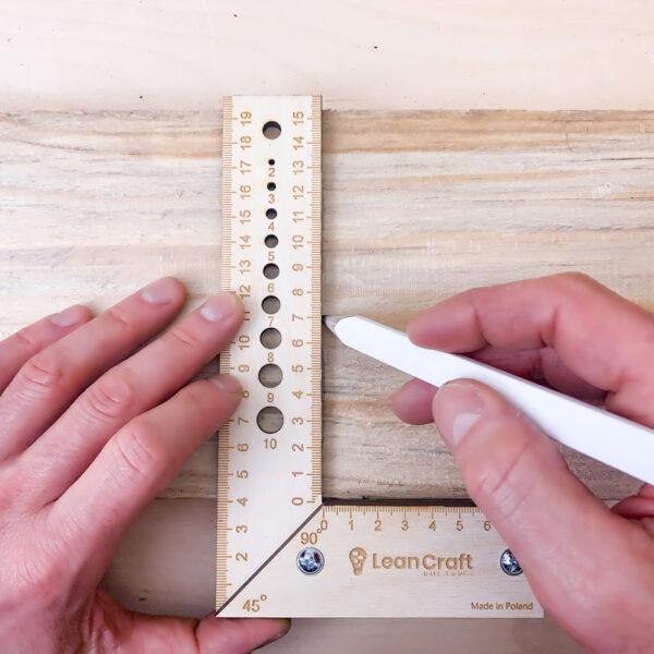 LeanCraft Kątownik drewniany 200×120 mm KONKO-3