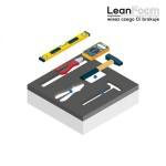 LeanCraft Pianka grafitowo-biała 580×480 mm do szuflad i wózków