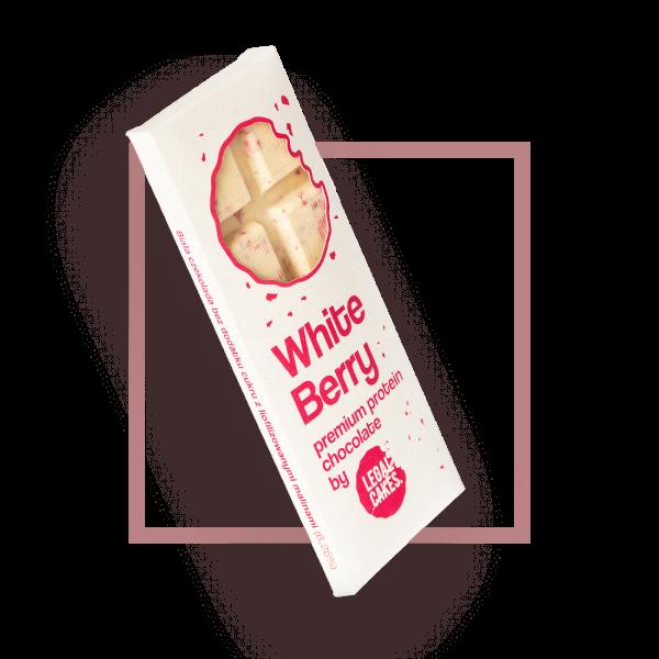 Legal Cakes Czekolada White Berry 75g