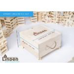 Linden Klocki Zestaw 500 szt. klocków w drewnianej skrzyni