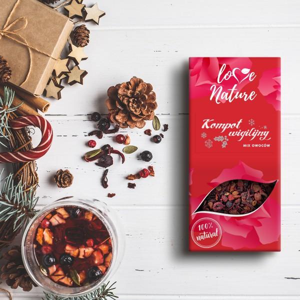 Love Nature Christmas Eve Compote - Fruit mix 16 szt. x 50g