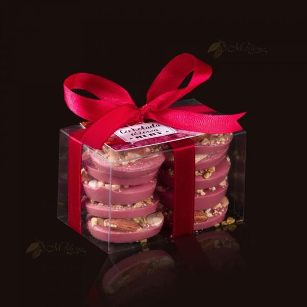 M.Pelczar Ciasteczka z różowej czekolady RUBY otulone bakaliami 100g