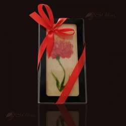 M.Pelczar Chocolate with a hand-painted flower