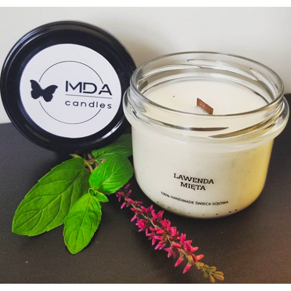 MDA Candles Lavender - Mint Soy Candle 200ml