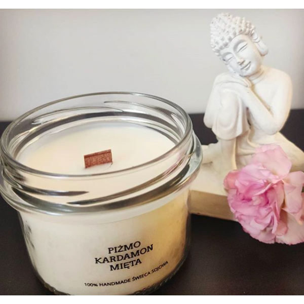 MDA Candles Musk - Cardamom - Mint Soy Candle 200ml