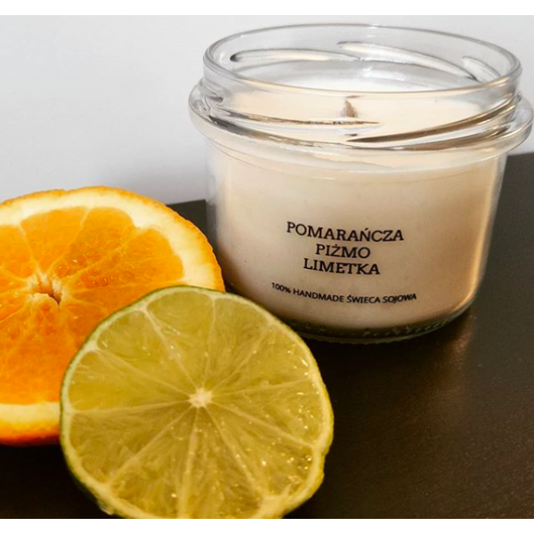 MDA Candles Orange - Musk - Lime Soy Candle 200ml