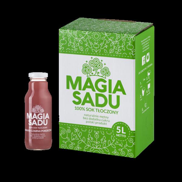 Magia Sadu Sok Jabłko–Czarna porzeczka karton 5l