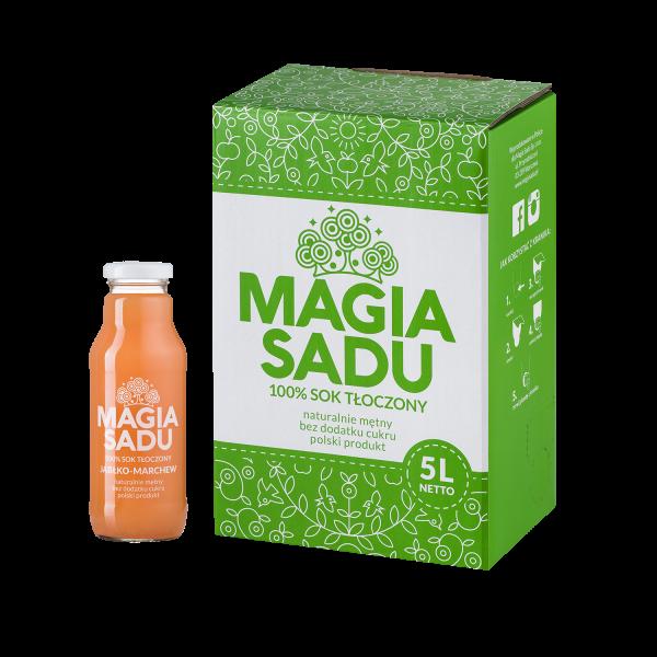 Magia Sadu Sok Jabłko–Marchew karton 5l