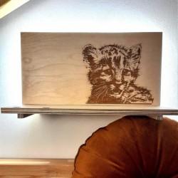Makuto Art Półka do pokoju dziecka z Tygryskiem