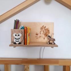 Makuto Art Półka do pokoju dziecka z wiewiórką