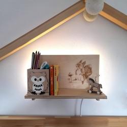 Makuto Art Półka do pokoju dziecka z wiewiórką- podświetlana