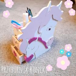 Makuto Art Organizer na biurko dla dziewczynki Koniki różowy XL