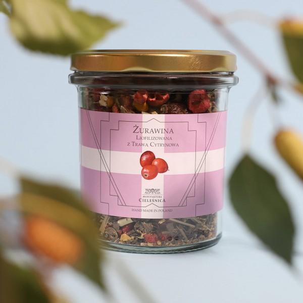 Manufaktura Cieleśnica Herbata Zielona ŻURAWINA LIO z Różą