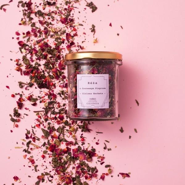Manufaktura Cieleśnica Herbata Zielona z Różą i Czerwonym Pieprzem