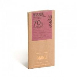 Manufaktura Czekolady Wiśnie w czekoladzie 44% kakao 80g