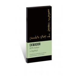 Manufaktura Czekolady Czekolada deserowa Ekwador 80%+ksylitol 50g