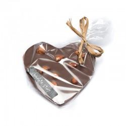 Manufaktura Czekolady Czekoladowe serce z orzechem laskowym 44% kakao