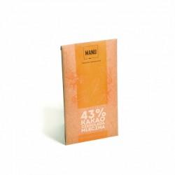 Manufaktura Czekolady Czekolada MANU mleczna z cynamonem 43% kakao 50g