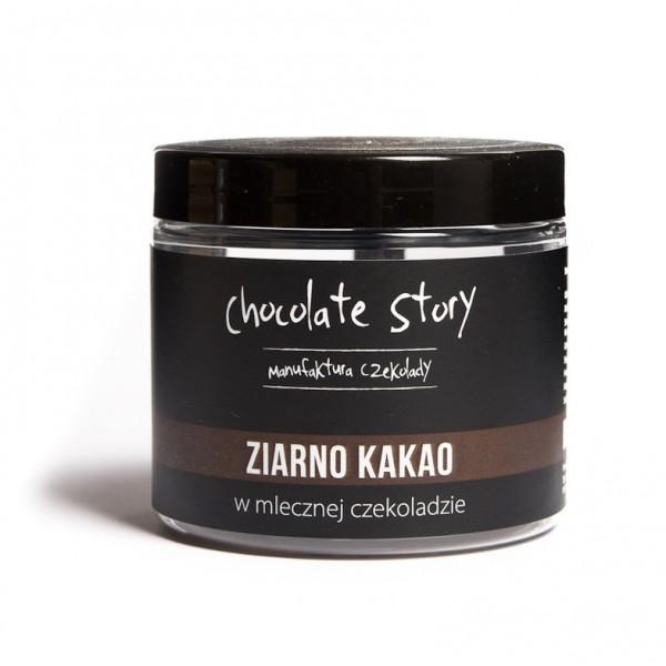 Manufaktura Czekolady Ziarno kakao w mlecznej czekoladzie 120g