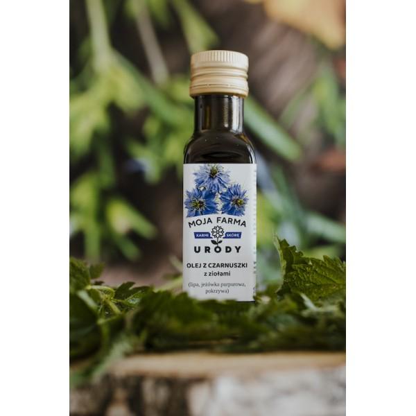 Moja Farma Urody Black cumin oil with linden, echinacea and nettle 100ml