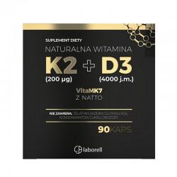 myLaborell WITAMINA K2 200 +D3 4000 90 kaps.
