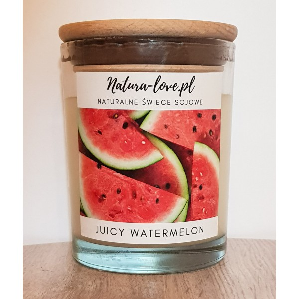 Natura Love Juicy Watermelon - Natural Soy Candle 230ml