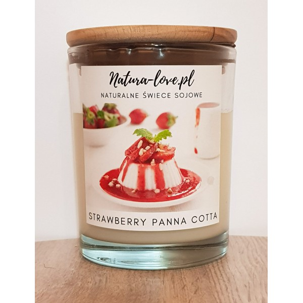 Natura Love Strawberry Panna Cotta - Natural Soy Candle 230ml