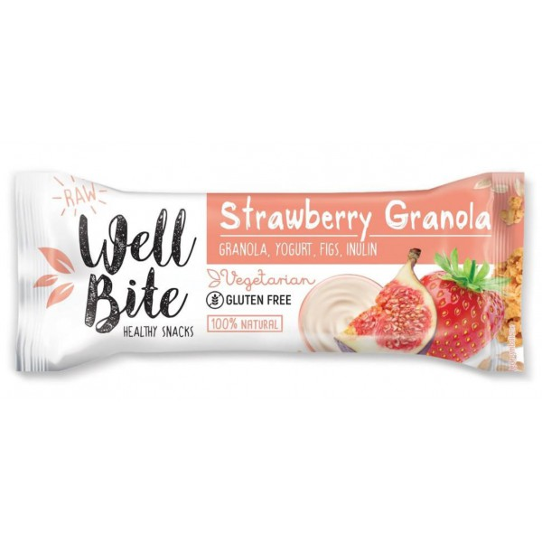 Oho Natura Baton Well Bite Strawberry Granola 30g