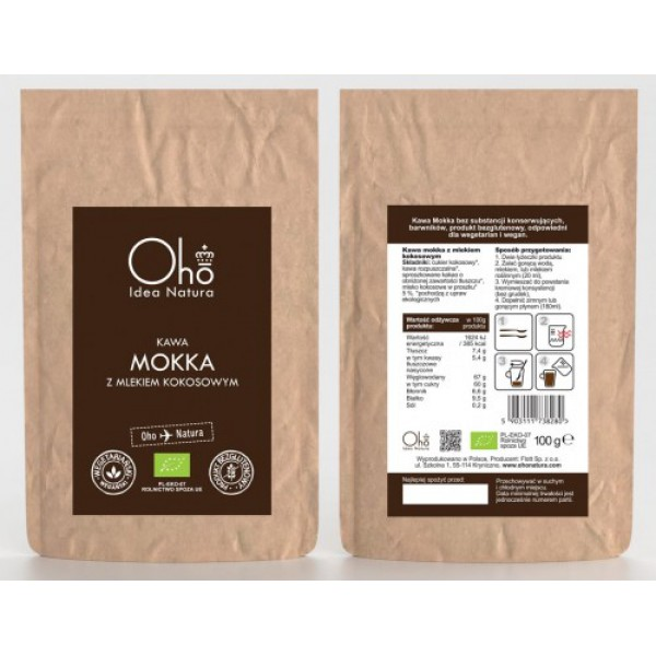 Oho Natura Kawa mokka z mlekiem kokosowym 100g