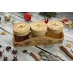 Pasieka Krzemyk Miód w skrzynce 3x220g - drewniane wieczko