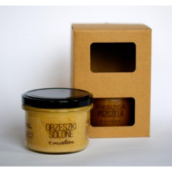 Pasieka Smakulskich Gift set: salted peanuts and bee bread in honey 300g
