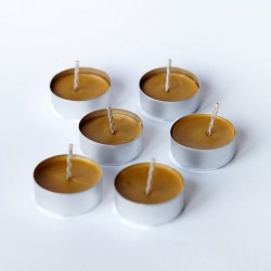 Pasieka Smakulskich Tealight candle made of natural wax (Set of 10pcs.)