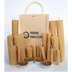 Pasieka Smakulskich A set of natural candles made of bee hose